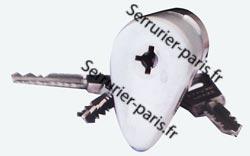 Dépannage cylindre Bricard ovoïde avec bille Paris