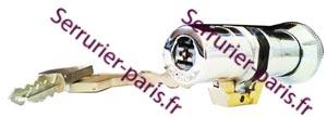 Dépannage cylindre Fichet monobloc 484 à bouton